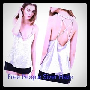 Free people silver haze top